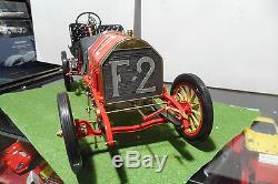 FIAT 130 HP F-2 RACER 1907 grand prix France montee 1/8 POCHER voiture miniature