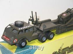 FRANCE JOUET militaire, camion PACIFIC canon, version avec mitrailleuse FJ