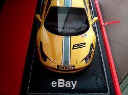 Ferrari 458 Challenge Evoluzione Jaune 2013 1/18 Bbr