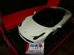 Ferrari 458 Italia Blanc Brillant Toit Noir Bbr 1/18 Eme Limited Edition