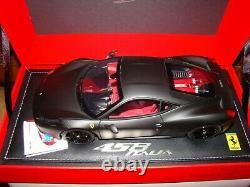 Ferrari 458 Italia Matt Black Bbr 1/18 Eme Limited Edition Superbe Rare