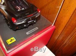 Ferrari 458 Speciale Bbr Matt Black 1/18 Eme Limited 20 Pcs Superbe Et Rare