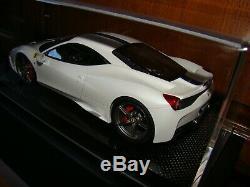 Ferrari 458 Speciale Mr Collection Fuji White Carbon Base 1/18 Eme Tres Rare