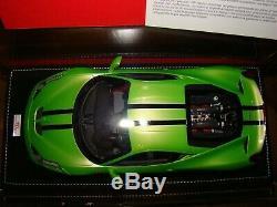 Ferrari 458 Speciale Mr Collection Ithaca Green Bandes Noires 1/18 Eme Superbe