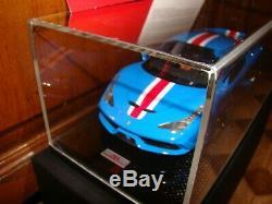 Ferrari 458 Speciale Mr Collection Nova Blue Bandes Rouges 1/18 Eme Superbe