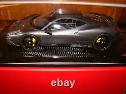Ferrari 458 Speciale Mr Collection One Off Grigio Silverstone 1/18 Eme Rare