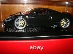 Ferrari 458 Speciale Mr Collection One Off Nero Daytona Carbon 1/18 Eme Rare