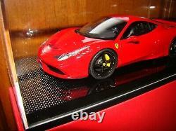 Ferrari 458 Speciale Mr Collection One Off Rosso Corsa Carbon 1/18 Eme Rare
