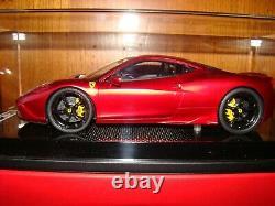 Ferrari 458 Speciale Mr Collection One Off Rosso Fuocco Matt Red 1/18 Eme Rar