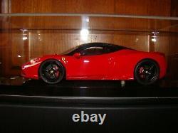 Ferrari 458 Speciale Mr Collection Rosso Corsa Toit Noir 1/18 Eme Tres Rare