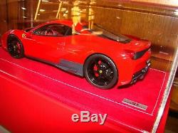 Ferrari 458 Speciale Mr Collection Rosso Scuderia Carbon Stripe 1/18 Eme