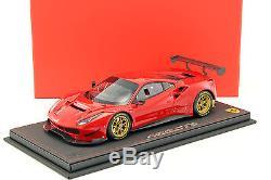 Ferrari 488 GT3 presse version 2015 rouge 118 BBR
