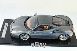 Ferrari 488 GTB Grigrio ferro BBR 1/12 New! BBR P1203BCF