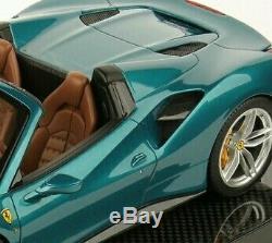 Ferrari 488 spider mettalic dark green 1 18 carbon signed 1 pièce MR no bbr RARE