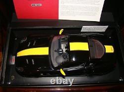 Ferrari 599 Gto Noir /yellow Stripe Mr Collection 1/18 Eme Limited 15/20 Pcs