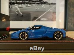 Ferrari ENZO Azzurro Dino 1/43 BBR CDL404 Black Leather base N°27/45 RARE