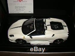 Ferrari F430 16m Scuderia Spider Mr Collection 1/18 Eme Pearl White Limited Rare