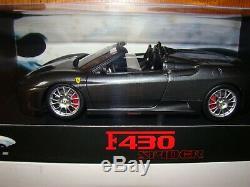 Ferrari F430 Spider Gris Silverstone Miami Vice Elite 1/18 Eme Limited Rare