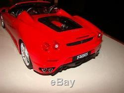 Ferrari F430 Spider Rouge De Agostini Echelle 1/10 Eme Superbe Et Tres Rare
