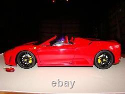 Ferrari F430 Spider Rouge De Agostini Personalisee 1/10 Eme Superbe Et Rare