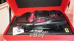 Ferrari F458 Italia Black Mat Au 1/18 Par Bbr