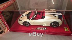 Ferrari F458 Speciale A White Fuji Au 1/18 Par Bbr