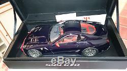 Ferrari F599 Gto Bleu Pozzi Au 1/18 Par Mr Collection
