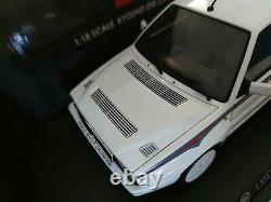 First Edition NEW Kyosho 1/18 Lancia Delta HF Integrale 6 White MARTINI 08344A
