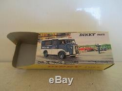 French Dinky 566 Citroen Hy 1200 Police Van Original Bulb Mib 9 En Boite L@@k