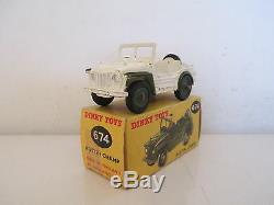 GB Dinky 674 Unaustin Champ Military Jeep Militaire Onu Vnmib Very Nice L@@k