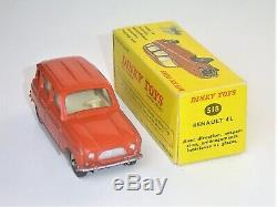 HYPER RARE ASSOCIATION! DINKY TOYS France 60's 518 Renault R 4 4L pr. NEUF BO