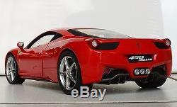 Hot wheels ELITE FERRARI 458 ITALIA, 1/18, red / rot, NEU+OVP, MIB