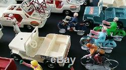 Important Lot Miniatures (Ancien) Tour de France, Salza, Voitures vélo Motos