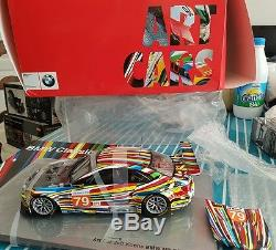 Jeff Koons BMW 1/18 M3 GT2 art car collector New in Box