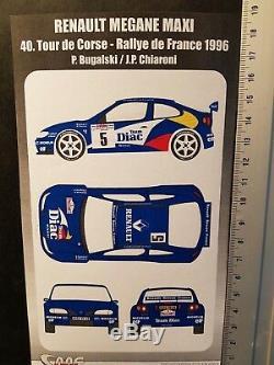 Kit 1/24 Renault Megane Maxi #5 Bugalski Tour De Corse 1996 Kit243