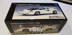 LAMBORGHINI COUNTACH 5000 S 5000s WHITE RARE NEW 74532 AUTOART 1/18