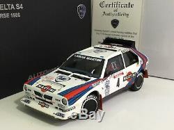 LANCIA DELTA S4 Tour de Corse 1986 Toivonen Cresto 1/18 AUTOART