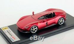 LOOKSMART LOOLS499B Ferrari Monza SP1 Rouge Magma 1/43