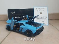 Lamborghini Aventador 50th Anniversaire Bleu Cepheus 1/18 Autoart