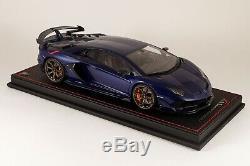 Lamborghini Aventador SVJ Blu Sideris MR LAMBO034F 1/18 NEW