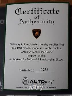 Lamborghini Veneno verte 1/18 Autoart