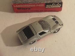 Lamborghini miura solido et sa boite d'époque