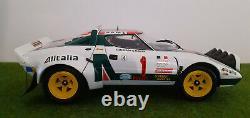 Lancia Stratos Hf Rally Monte Carlo 1977 # 1 Alitalia Rallye 1/18 Kyosho 08132a