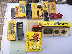 Lot 8 Dinky Toys France/england + Boites Originales Voir Liste No Atlas Etat DIV