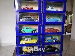 Lot Atlas, 19 voitures Tintin, parfait état avec boîte et certificat