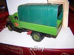 Lot bo vébé d'origine camion tole a clé 1/18 transport rapide jouet ancien