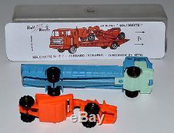 MAJORETTE RAIL ROUTE 6C Bernard plateau + scraper en boîte RARE