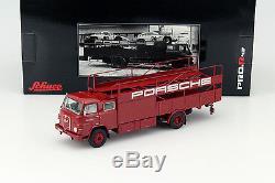 MAN 635 Porsche Race Camion rouge 143 Schuco