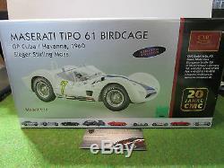 MASERATI BIRDCAGE TIPO 61 # 7 GP CUBA MOSS au 1/18 d CMC M125 voiture miniature
