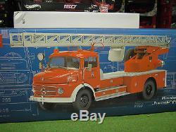MERCEDES BENZ L 322 CAMION POMPIERS échelle 1/18 d SCHUCO 00155 camion miniature